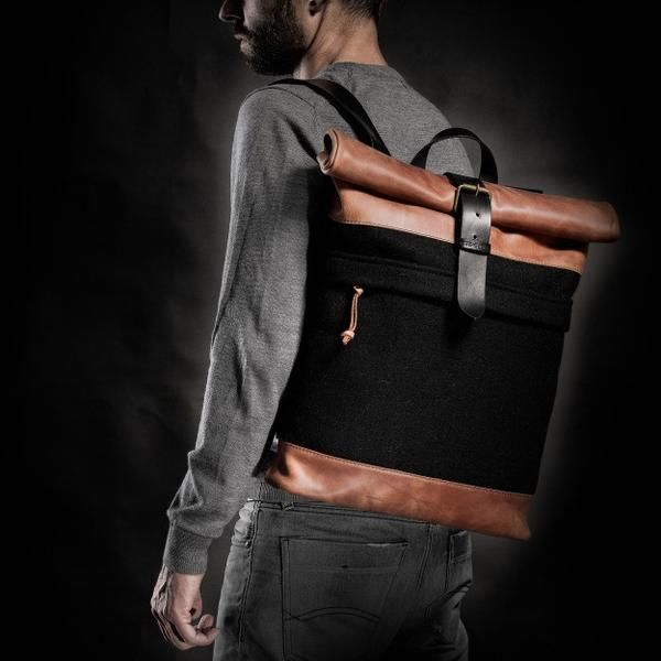 1970's Backpack (Orange/Black) #backpack #bag #handcrafted #handmade #hipster #crossroad #style #fashion #unique #limited #accessory #overcoat #wool #army