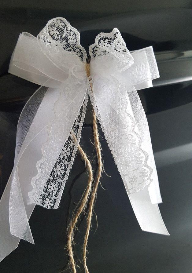 10 x Antennenschleifen Autoschleifen Autoschmuck – Hochzeitsdeko – Hochzeit – Mi…