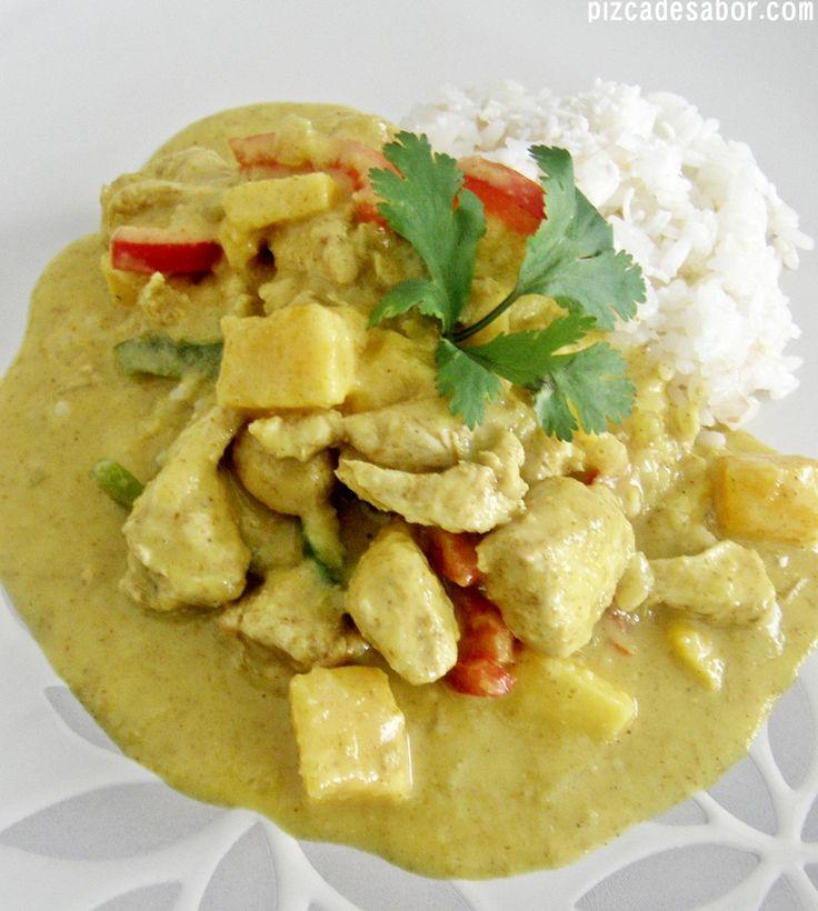 Pollo al curry con mango