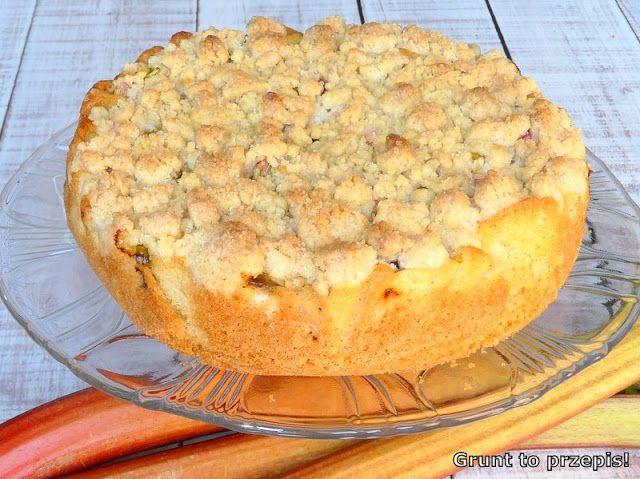 GRUNT TO PRZEPIS!: Łatwe ciasto z rabarbarem i kruszonką