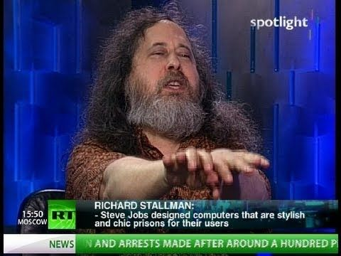 While Richard Stallman makes a lot of sense, the presenter must have been high or drunk or both