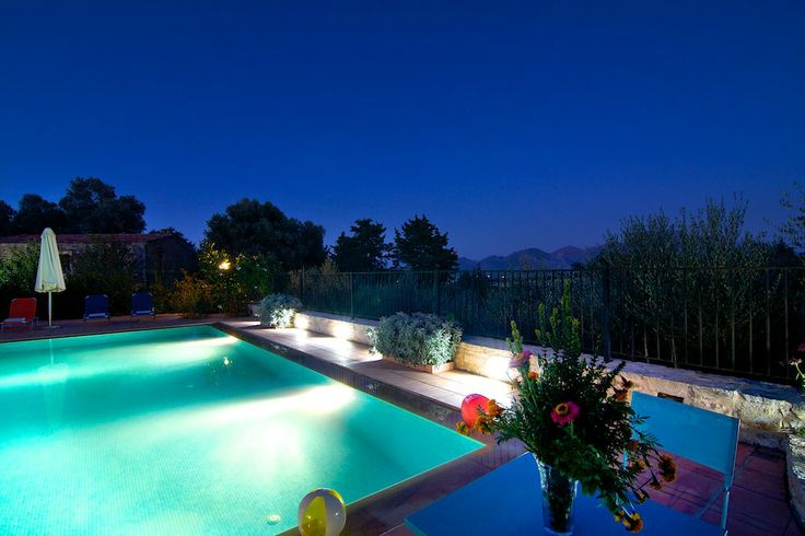www.allaria.gr Villa Allaria Crete #villa #crete #greece #vacation_rental #holidays #luxury #private #pool #pool_area #night_time #amazing_view #summer_in_crete