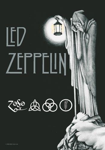 Drapeau LED ZEPPELIN - Stairway To Heaven - http://rockagogo.com #LedZeppelin #Rock #Déco