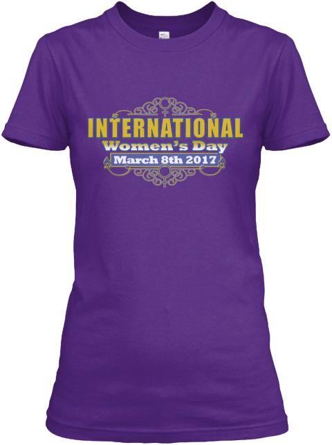 International Women's Day March 2017 Tee Purple Women's T-Shirt Front