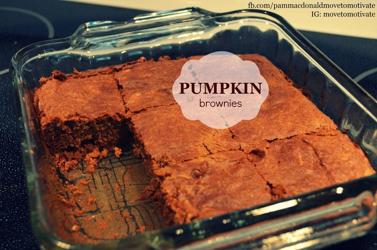 #glutenfree pumpkin brownies! CLICK on the picture for the recipe.