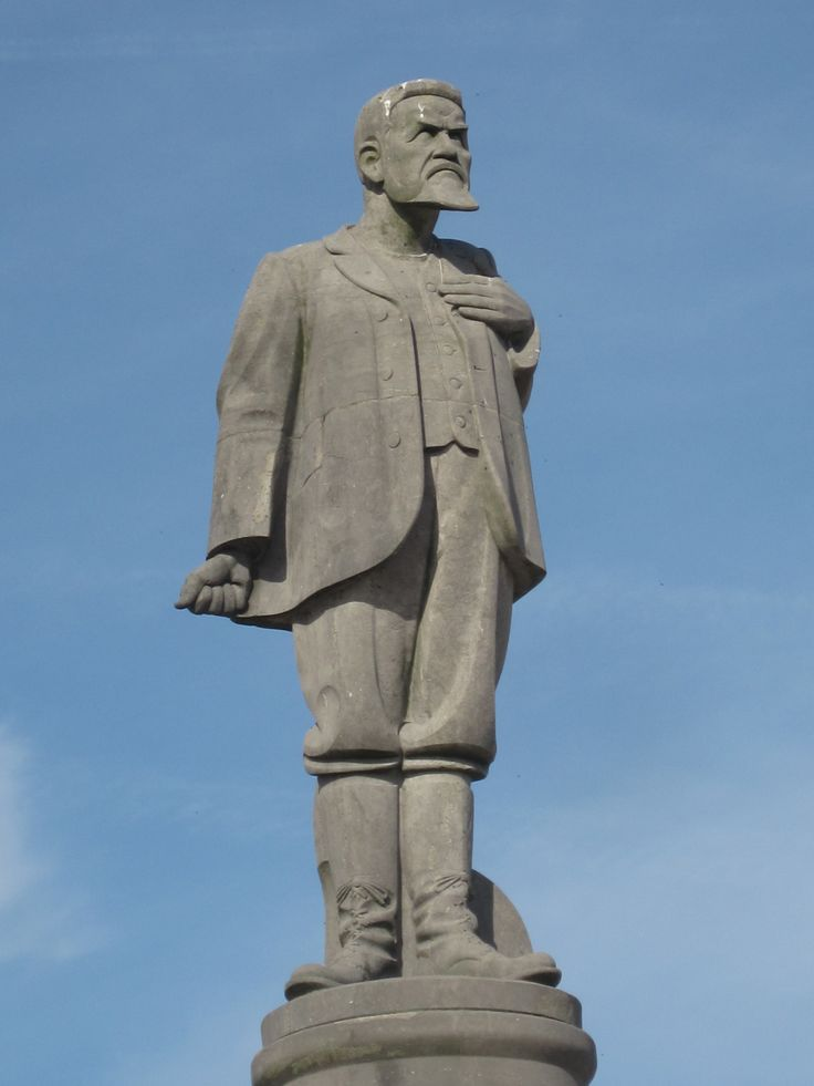 Standbeeld van Christiaan de Wet in park De Hooge Veluwe. Het standbeeld is gemaakt door Mendes da Costa