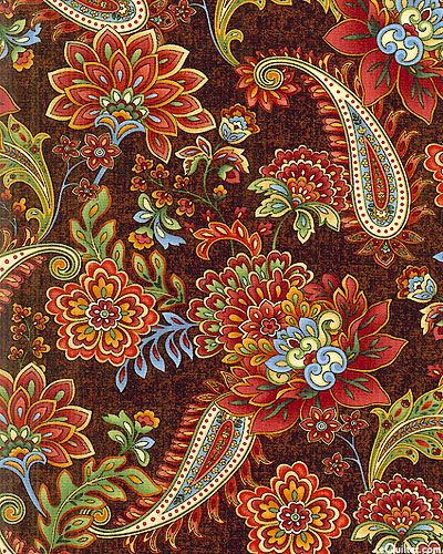 'Autumn Festival'-coffee brown-collection by Color Principle for Henry Glass & Co.