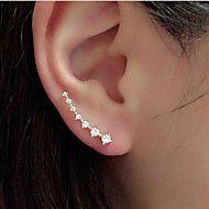 Örhänge Silverpläterad Ear Cuffs Smycken 1 par Bröllop / Party / Dagligen / Casual Legering / Bergkristall Dam / Flickor Gyllene / Silver – SEK Kr. 19