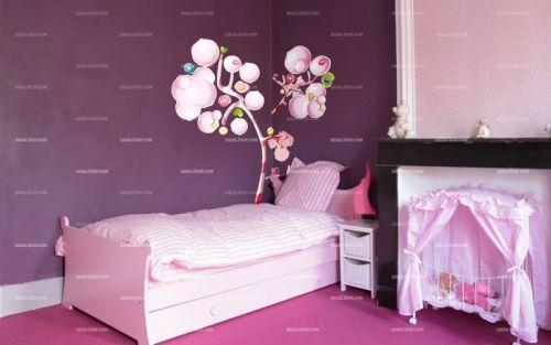 Les 74 meilleures images propos de d co chambre c leste - Stickers chambre petite fille ...