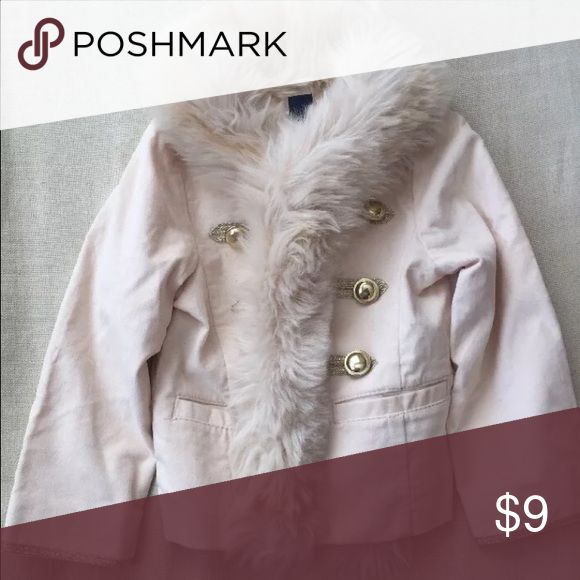 Gap Baby Girls Jacket, Toddler to 2yrs Warm and stylish fur jacket from Gap Baby Gap Baby Jackets & Coats Pea Coats
