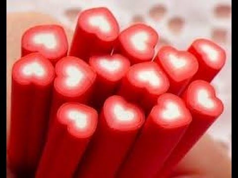 Polymer clay how to: a heart cane - YouTube