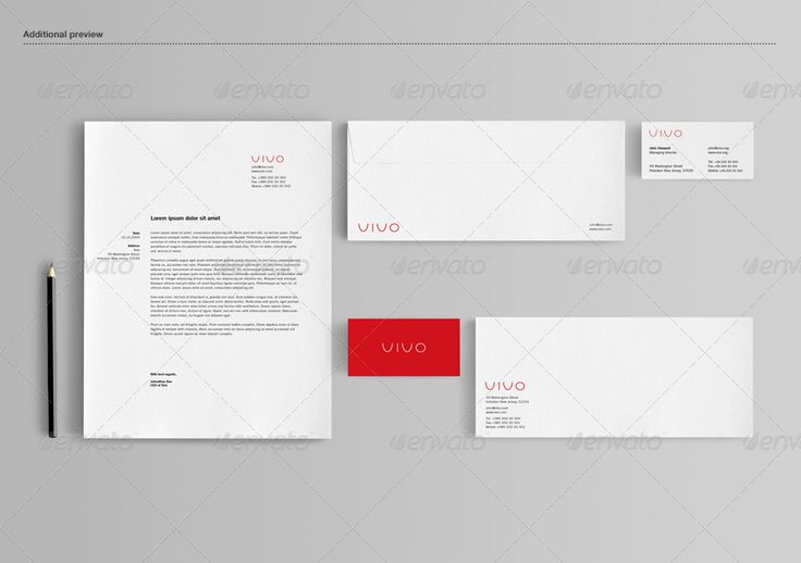 Stationery / Branding Mock-Up #stationery #corporate #identity #mockup #branding #suite