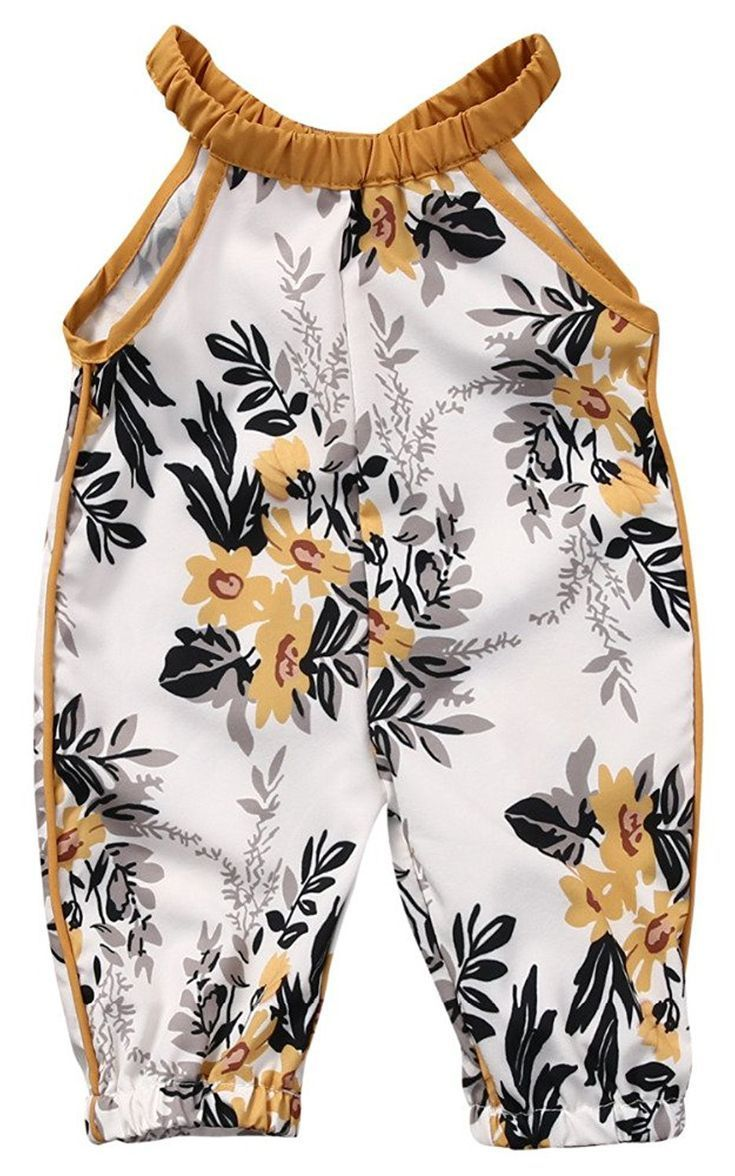 7b7d37a4b Mustard Floral Pant Romper | Kids sewing inspiration | Girls rompers ...