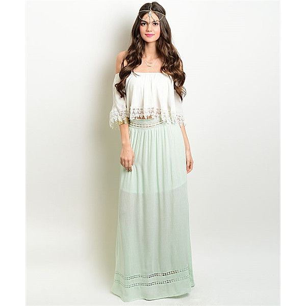 Leather And Sequins Mint Embroidered Maxi Skirt (385004701) ($47) ❤ liked on Polyvore featuring skirts, mint, leather skirt, maxi skirt, long sequin skirt, mint green skirts and white leather skirt