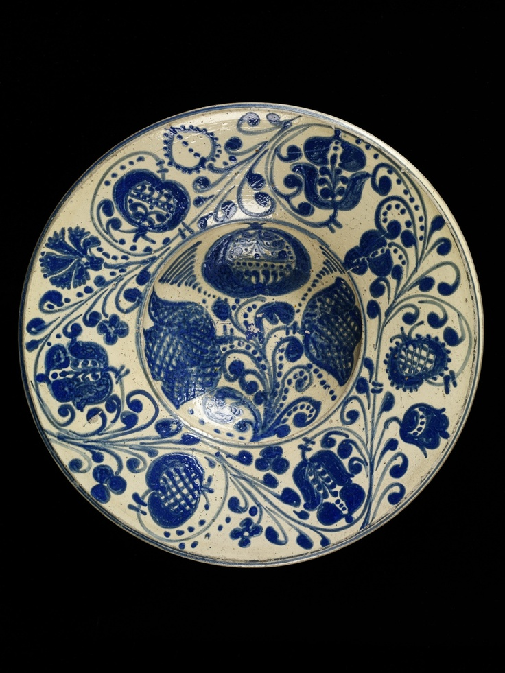 Plate from Kingdom of Hungary / Transylvania (Barcaság, Burzenland, Țara Bârsei), ca. 1700-1800  Victoria & Albert Museum - London CIS:843-1901 Images may be reproduced only with written permission of V Images, vaimages@vam.ac.uk +44 (00 207 942 2479