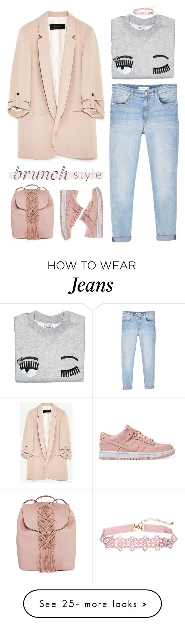 """""""cheap can be chic"""" by timeak on Polyvore featuring MANGO, NIKE and T-shirt & Jeans"""