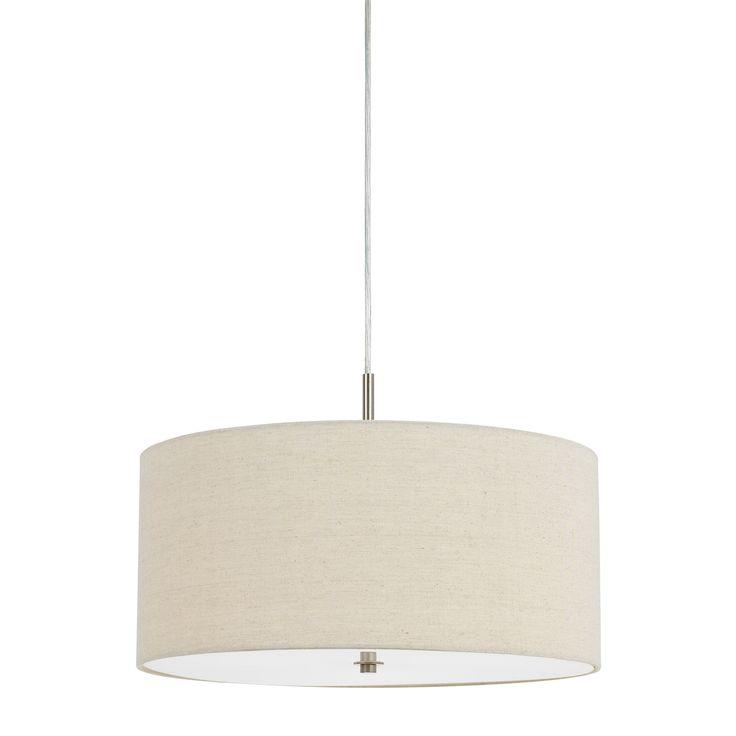 Addison Drum Shade 3-light 60-watt Pendant Light