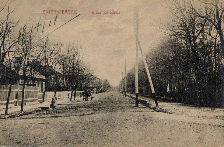 ul. Sienkiewicza Henryka (Kolejowa), Skierniewice - 1917 rok, stare zdjęcia