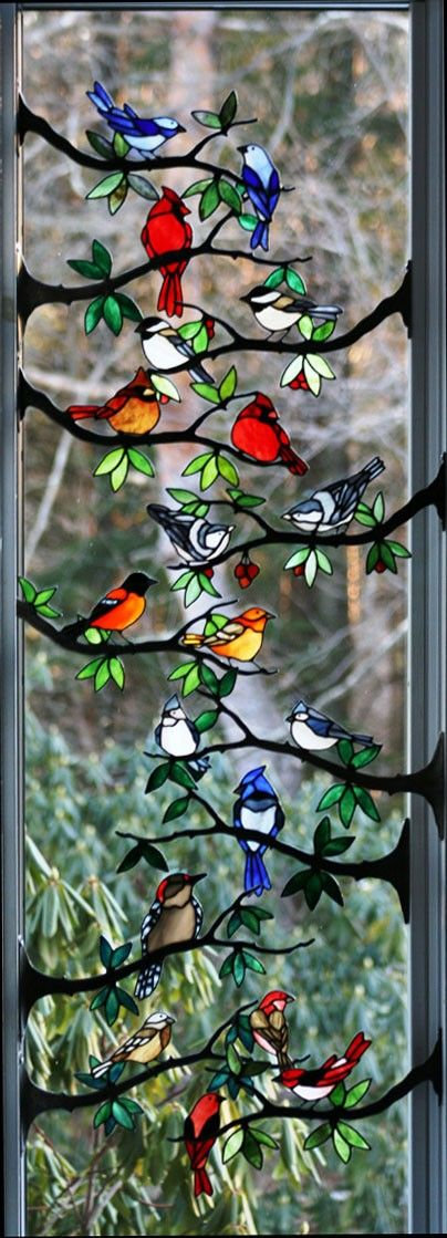 This would be beautiful as stained glass, but I wonder if it could be painted onto a window (mimicking stained glass)....