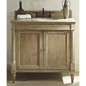"Fairmont Designs Rustic Chic 36"" Vanity - Weathered Oak - Bathroom Vanities Only (HMS Stores)"