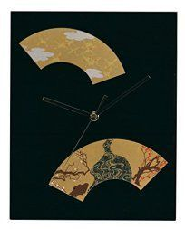 Japanese Wall décor is truly mystical, enchanting and  beautiful.  Chances are you have seen  those pretty Japanese wall fans or a captivating cherry blossom painting.  Either way Japanese home wall art décor is  stylish, unique and very popular in homes across the USA.    Ikeda lacquer Japanese style wall clock black 64027