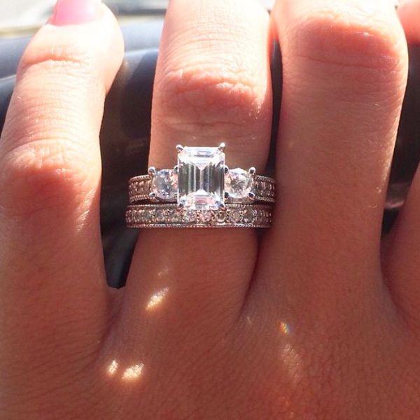 Lab Created Diamond Wedding Bands