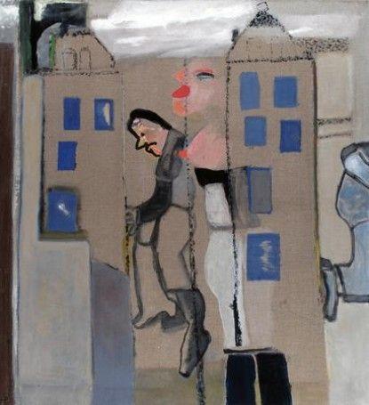 Teresa Pągowska Prawobrzeżna Warszawa, 2006, technika własna, 140x130cm