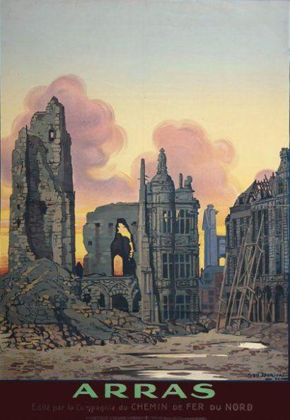 chemins de fer du nord - Arras - illustration de Géo DORIVAL - 1920 - France -