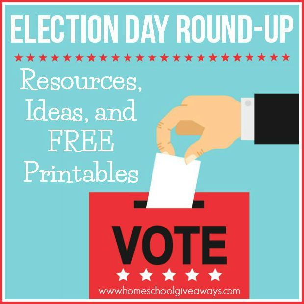 Election Day Round-Up! Resources, Ideas and FREE  Printables http://homeschoolgiveaways.com/2015/10/election-day-round-up-resources-ideas-and-free-printables/