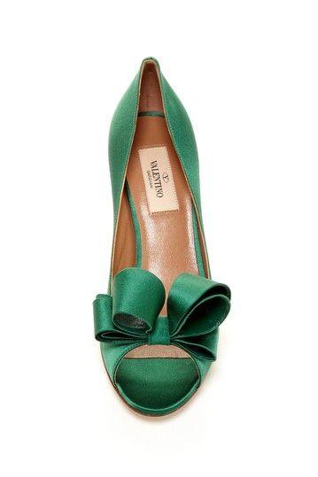 Emerald Bow Heels