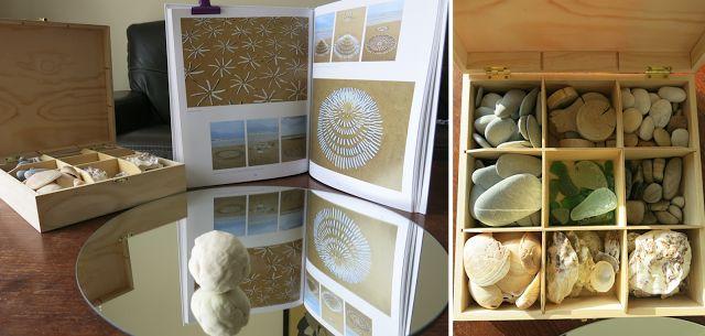 Reggio miroir : pâte à modeler et éléments de bord de mer