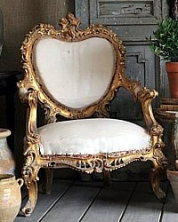 This heart-shaped chair would be gorgeous upholstered in pink or red silk or velvet.