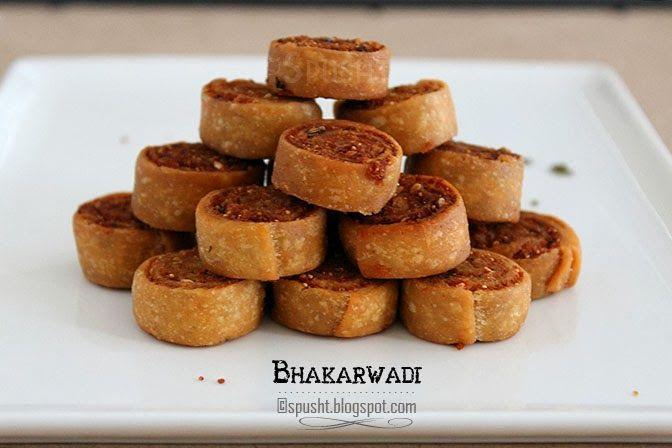 Crispy savory spicy snack bakarwadi Roll