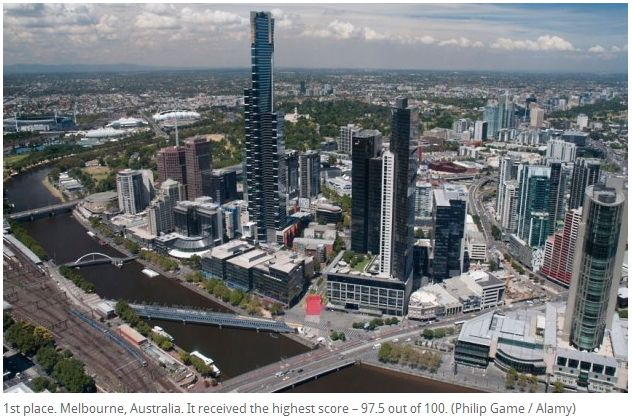 Top 10 cities in the world to live - We have been to Auckland,, Vienna, Melbourne