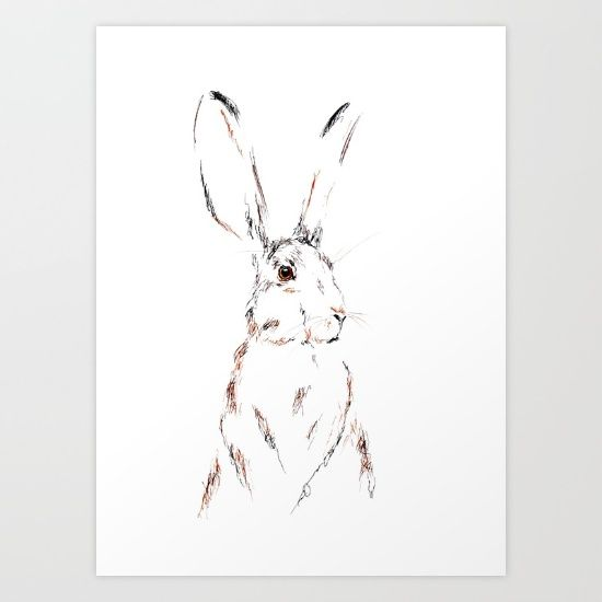 Hare Today III Art Print by Art By Chrissy Taylor - $22.00