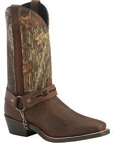 Laredo Mossy Oak alambre de púas Arnés botas - dedo del pie cuadrado