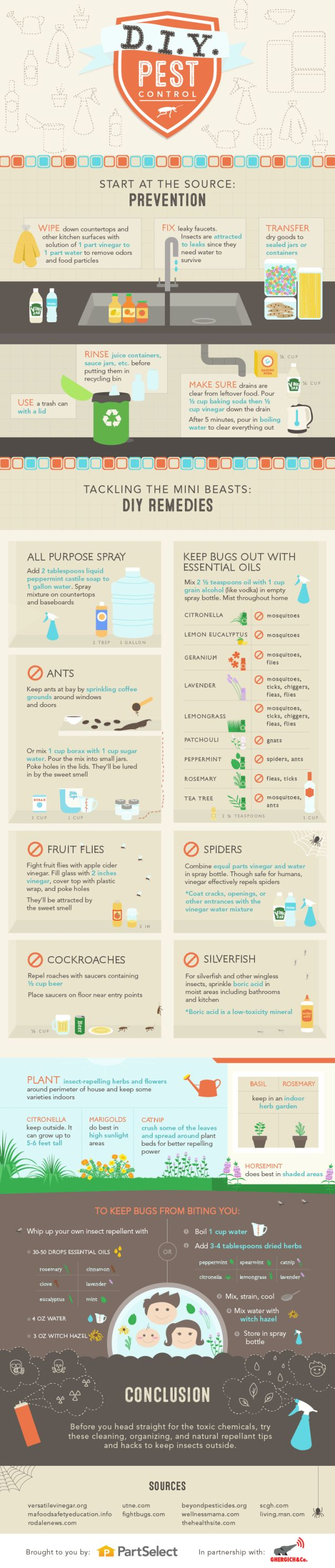 Keep Your Home Bug Free with These DIY Pest Control Methods Some are oils, some are not....ALL are helpful!