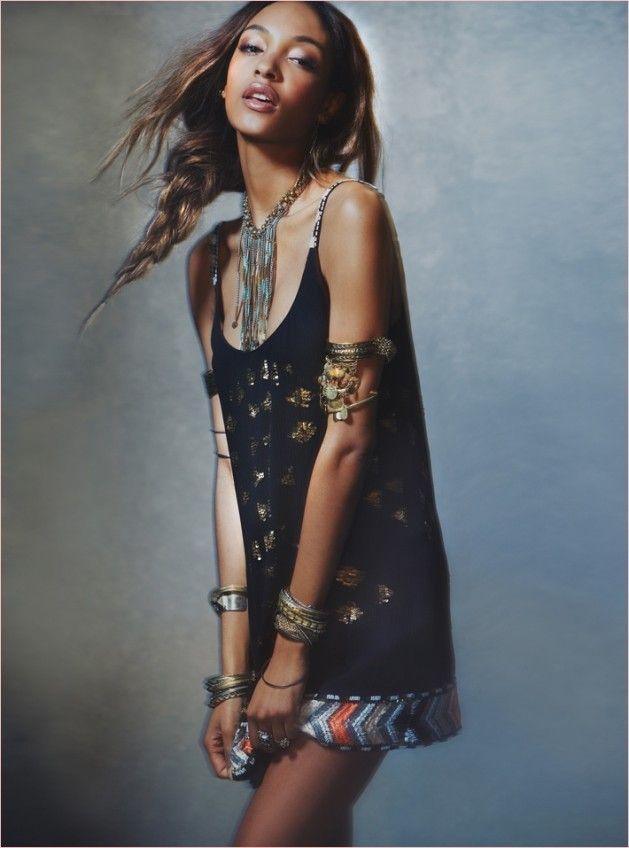 Jourdan Dunn Wears Free People's Spring Dresses for New Shoot 2