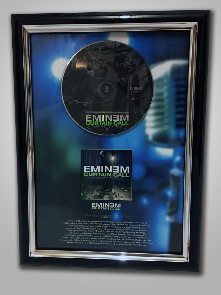 Framed Eminem CD Photoshop Print A4