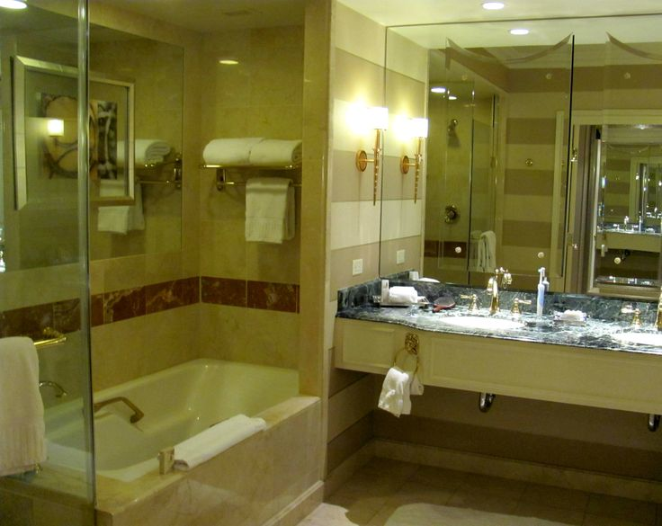 restroom off of main room 130 ft sq ft bathroom with roman tub w hotel bathroomslas vegas