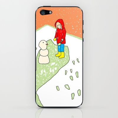 My first snowman iPhone & iPod Skin by dua2por3 - $15.00