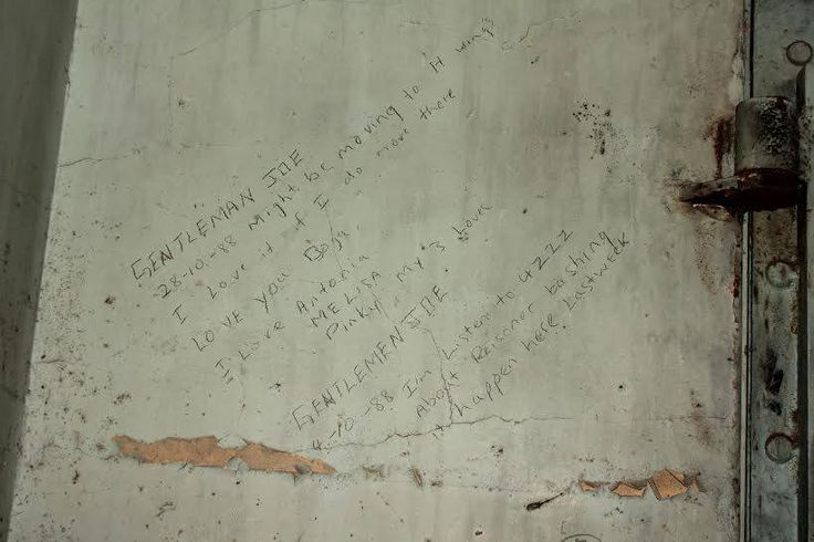 Those of you that have experienced the Boggo Road Gaol Tour would have seen 'GENTLEMAN JOE 88' painted in large letters in 3 yard. One of the cells in D wing (currently not accessible for tours) contains graffiti referring to Gentleman Joe. Some of the graffiti, like the image below, is in the form of diary entries.