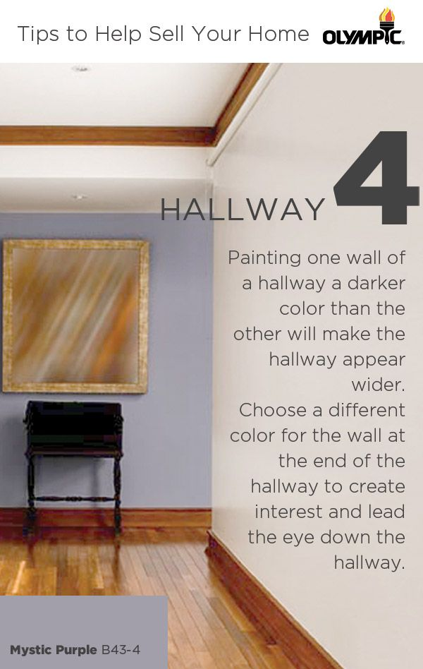 Painting One Wall Of A Hallway A Darker Color Than The