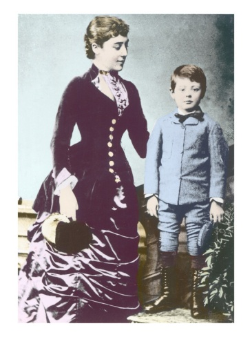Winston Churchill with His Mother, Lady Randolph Churchill Giclee Print by English Photographer at Art.co.uk