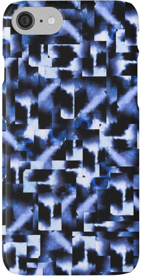 Watercolor and digital abstract pattern. • Also buy this artwork on phone cases, apparel, home decor, and more. @redbubble #art #abstract #blue #navy #artist #geometric #squares #night #dark #decor #design #blues #indigo #interiordesign #design #home #hom
