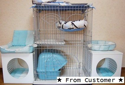 Click http://petproductsonline.info/iris2-tierwirecatcage To Learn More About The IRIS 2-Tier Wire Cat Cage. This sturdy wire tower-style cat cage is a great asset if you are trying to acclimate a new pet to your home. No more having to search for scared pets while a storm is upon you. These cages are also great for shelters, foster homes or vet offices!