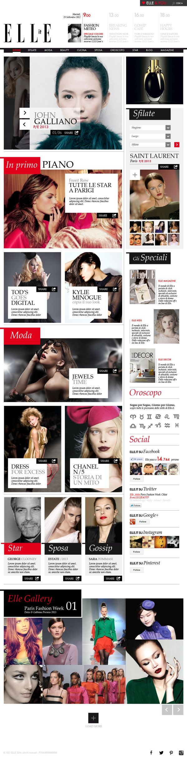 Elle Concept by Andrea Caucino, via Behance #webdesign #interface #ELLE