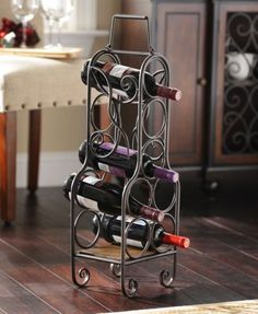 Tabletop Wine Bottle Holder #kirklands #creativekitchen