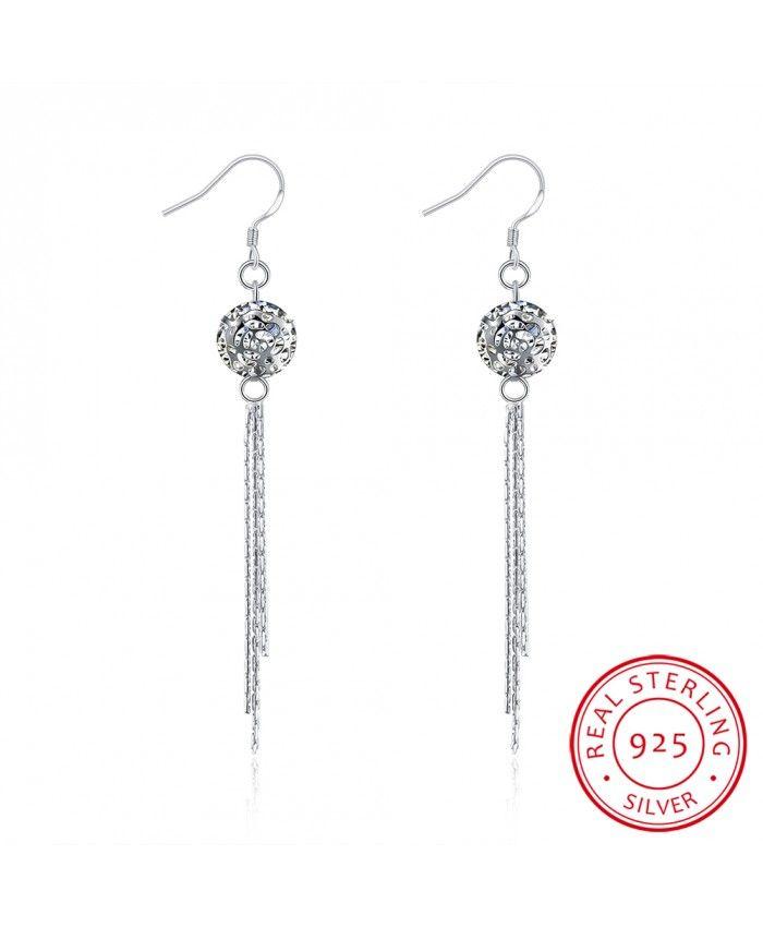 Best Ear Hook For Womens 925 Sterling Silver White 2016 Online For Womens