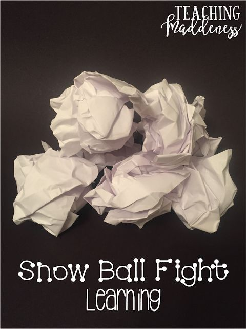 snowball fight learning - engaging way to get the kiddos involved, learning, and having a blast!
